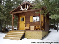 Hunting / familiy cabin kit from Bavarian Cottages - this one is just outside Calgary, Alberta Canada