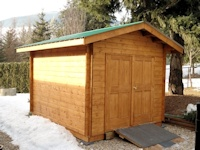 Double Door Shed Kit manufactured by bavariancottages.com in Shuswap Lake, BC, Canada