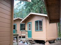 Micro sleeping cabins made by bavariancottages.com for the purpose of staff sleeping quarters