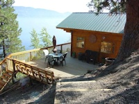 Very popular cabin kit called the Madrona installed on Okanagan Lake near Kelowna that was manufactured by bavariancottages.com