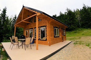 Custom cabin 20feet x 20feet with a loft made by Bavarian Cottages ltd