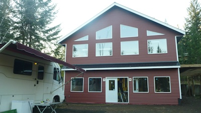 Custom large conventional home made by bavariancottages.com in Anglemont BC Canada on Shuswap lake