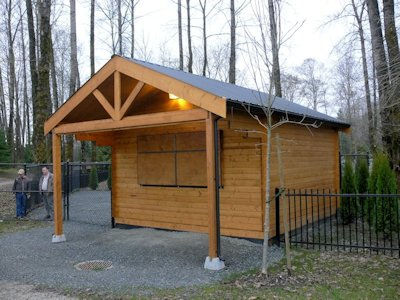 Concession/rental kit building built by bavariancottages.com at Fort Langley, BC, Canada