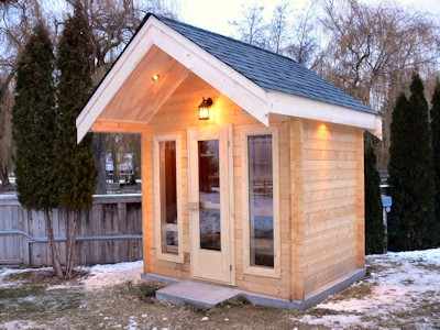 custom outdoor sauna built by bavarian cottages in kelowna bc - Garden Sheds Victoria Bc